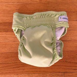 Reusable Green Dog Diaper   Size Medium